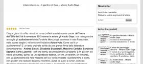 Il giardino di Gaia – Milano Audio Days