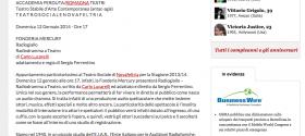 Al TEATRO SOCIALE di NOVAFELTRIA  RN   FONDERIA MERCURY  Radiogiallo. Radiodramma a Teatro  di Carlo Lucarelli