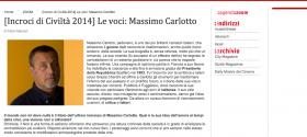 VeneziaNews  venews    Incroci di Civiltà 2014  Le voci  Massimo Carlotto