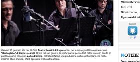 Dal Radiodramma all audiodramma  Radiogiallo di Carlo Lucarelli al Teatro Rossini di Lugo