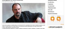 Domani  giovedì 15  al teatro Rossini di Lugo  va in scena Radiogiallo di Carlo Lucarelli