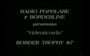Border Trophy 1987